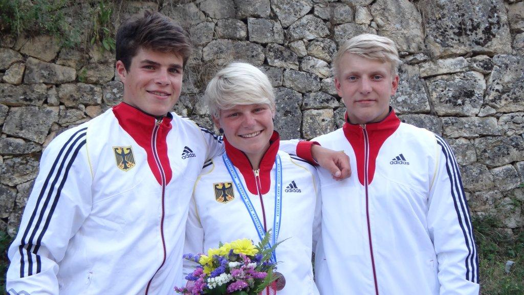 Strahlende Gesichter nach der Siegerehrung: die Golden Boys Paul Grunwald und Timo Trummer nehmen die