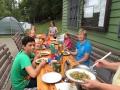 Essen im Bootshaus