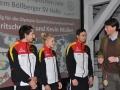 Start in das Olympische Jahr. Lisa, Kai und Kevin mit Marc Kühne