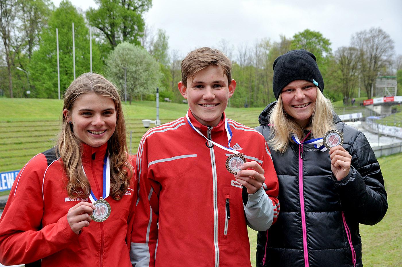 Stella, Eric und Lisa haben sich für die Nationalmannschaft qualifiziert.