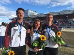 Medaillengewinner Felix Göttling, Stella Mehlhorn, Benjamin Kies   Foto Michael Trummer