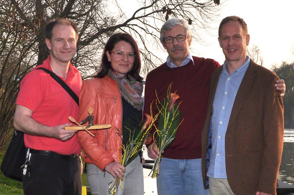 Der neue Vorstand v.l.n.r. Welz, Leske, Pfannmöller, Grunwald