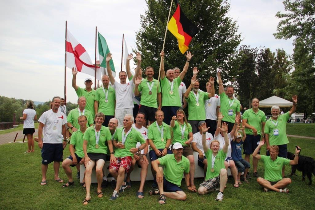 Das Deutsche Team Kanuslalom bei den Worldgames 2013 in Turin © Pfannmöller