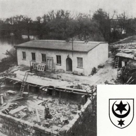 1957 war das Bootshaus BSG-Aufbau in Eigeninitiative fertig, sofort ging es an den Bau für die Slalomboote.
