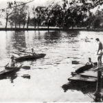 Der Nachwuchs trainiert vorm Bootshaus unter der bewährten Leitung ihres Trainers Rudi Zeiler 1968