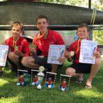 Louis Paaschen, Benjamin Kies, Ben Borrmann bei der Deutschen Schülermeisterschaft in Bad Kreuznach