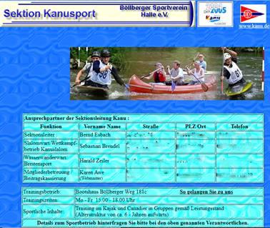 Screenshot aus dem Jahr 2005