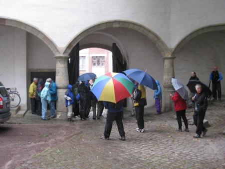 Stadtrundgang bei Regen