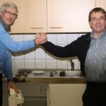 Dr. Uwe Pfannmöller bedankt sich bei Gerd Micheel