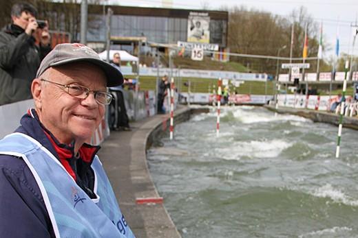 Dieter Engelbrecht bei der Arbeit (Olympiaqauali Augsburg 2012)