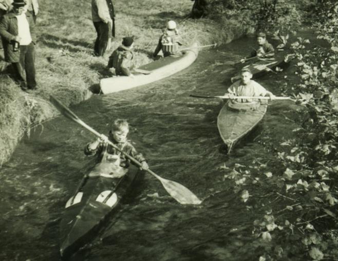 Heinz Schaefer im Boot