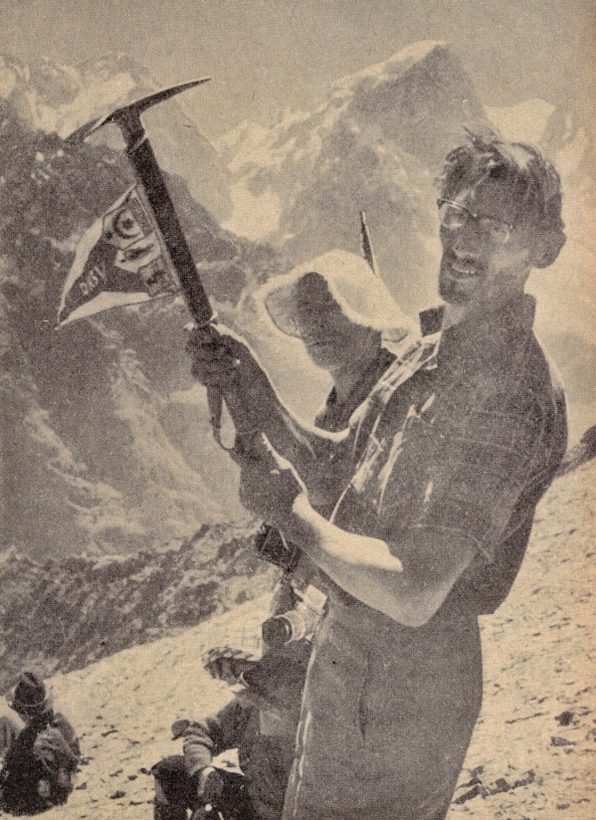 Heinz Schaefer in 4000m Höhe